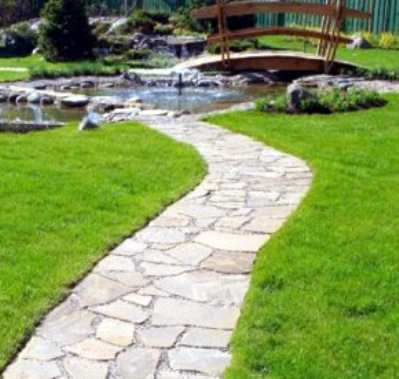 Дорожки из натурального камня - технология укладки