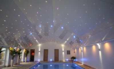 Натяжные потолки с подсветкой «звезды»